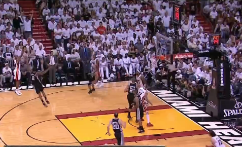 Ray Allen hits the three and the Heat lead is five.