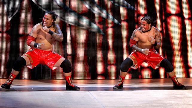 Updated Mattel WWE Usos in red!