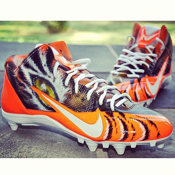 AJ Green Custom Bengals cleats for the