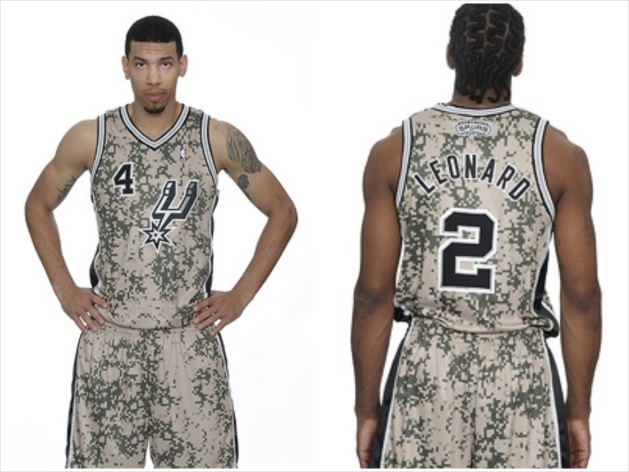San Antonio Spurs Unveil New Military-Inspired Camo Uniforms