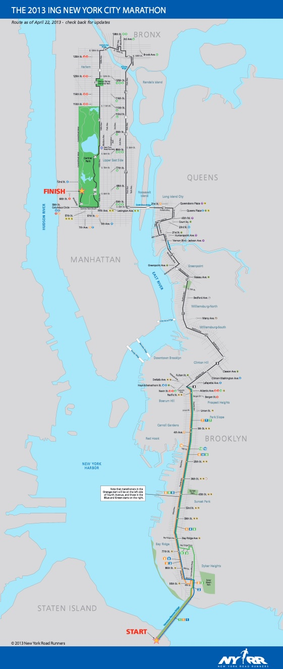 New York Marathon 2013 Route Start Time Date And TV