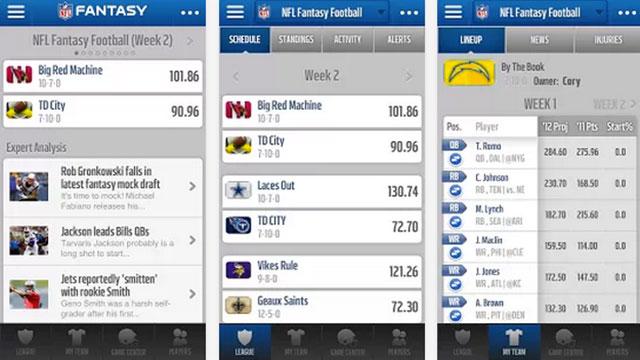 Best nfl football apps for android nfl com fantasy foorbtall 2013