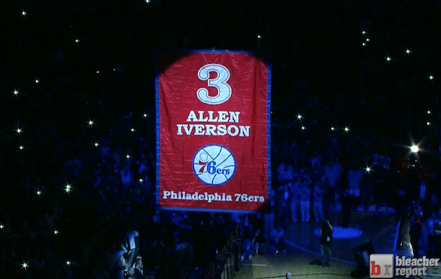 Allen Iverson Jersey Retirement Ceremony: Philadelphia ...