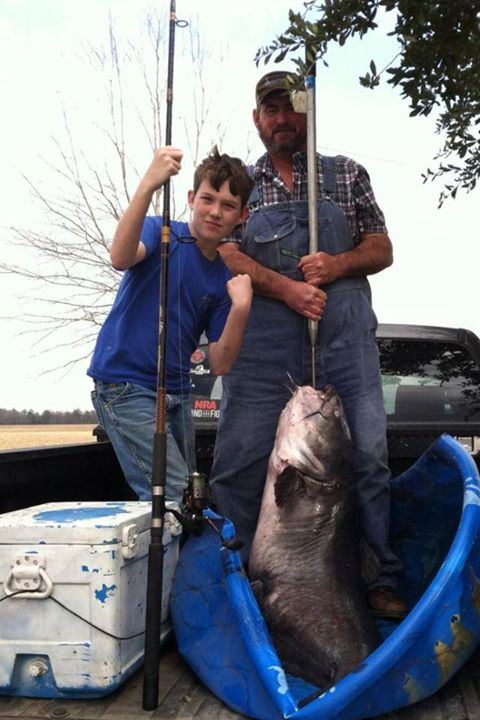 12-Year-Old Boy Catches Record-Breaking 114-Pound Catfish