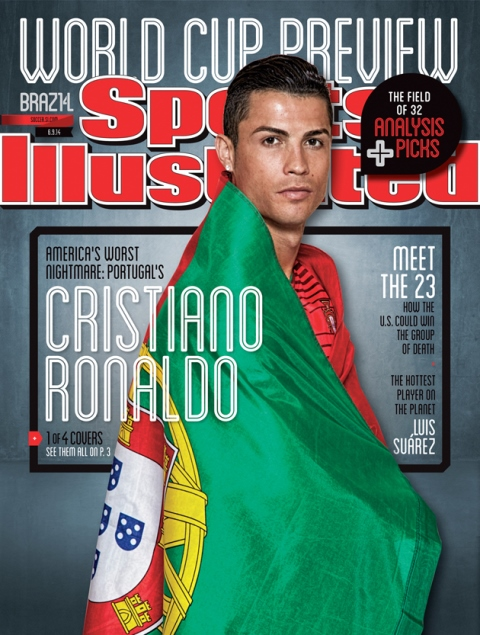 Lionel Messi, Cristiano Ronaldo & Luis Suarez grace the covers of the new Sports Illustrated magazine [Pictures]