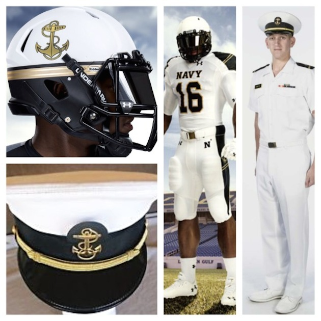 ... Provides Navy with New 'Summer White' Uniforms for Ohio State Game