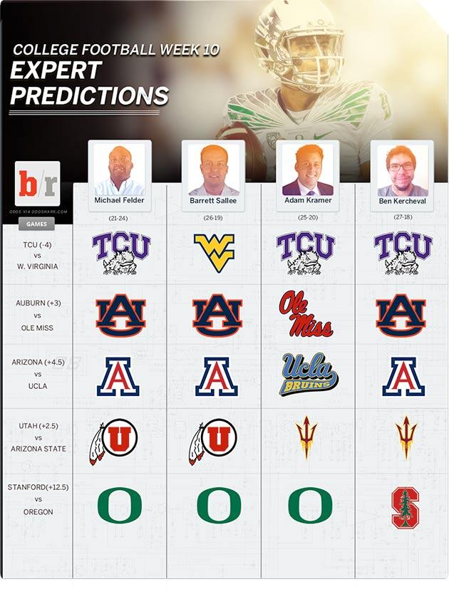 college football analysts picks week 9 games