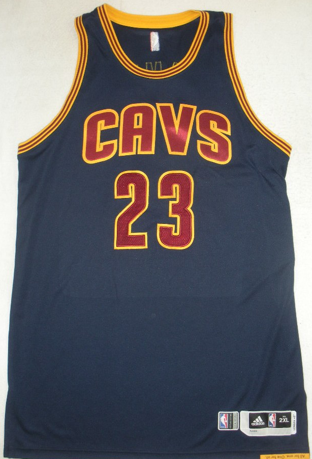 LeBron James\' Navy Cleveland Cavaliers Home Opener Jersey Is Up