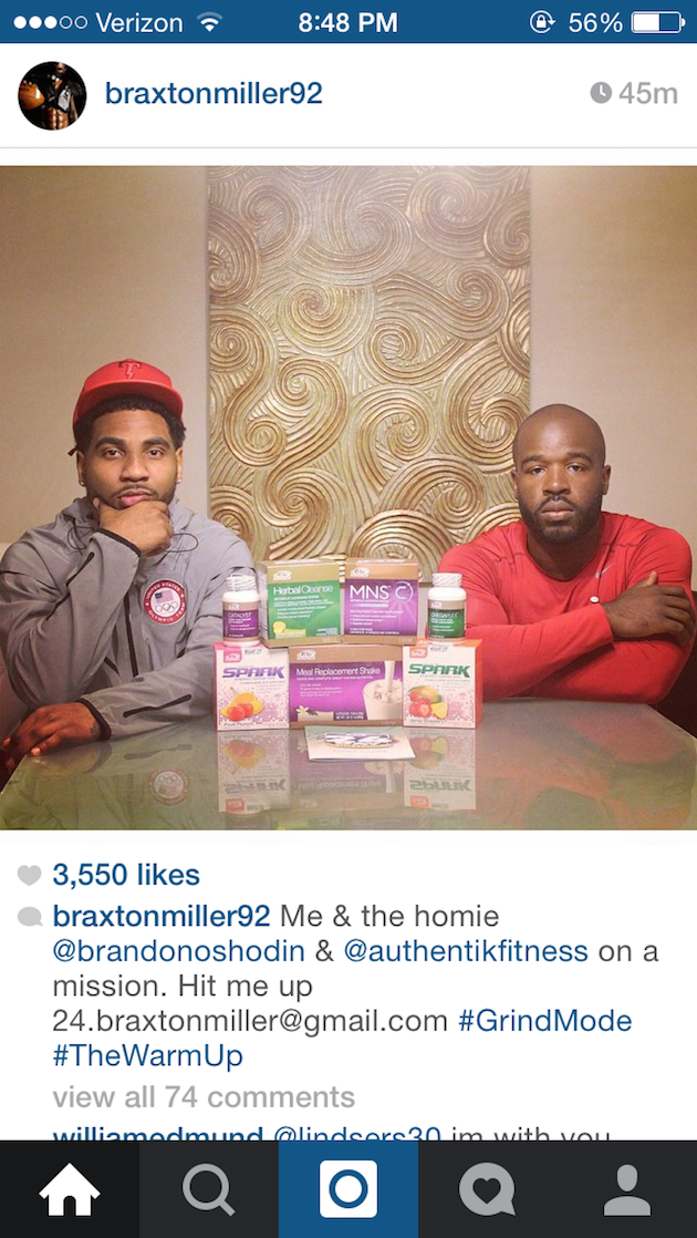 Braxton Miller Advocare Via Braxton Miller/instagram