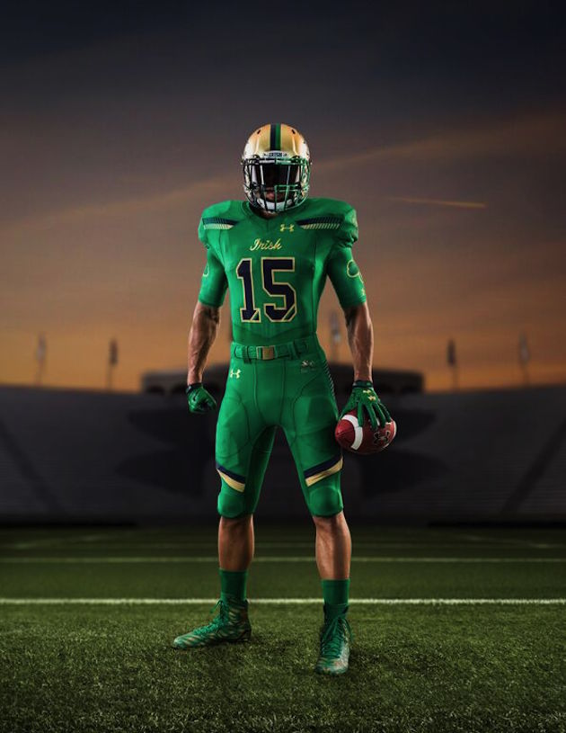 Notre Dame Unveils New Green Monster-Themed Uniforms for Game at Fenway Park c4b7a043c