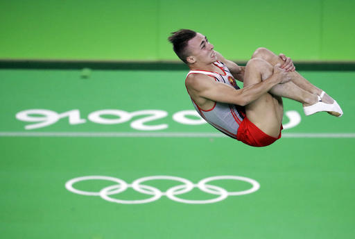Olympics-Trampoline-Belarussian Hancharou wins men's gold