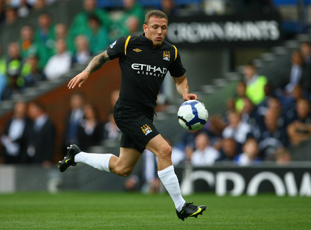 BLACKBURN, ENGLAND - AUGUST 15: Craig Bellamy of Manchester City in action