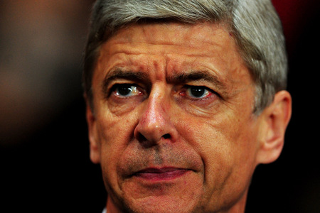 ...manager Arsene Wenger looks on before the UEFA Champions League Group...