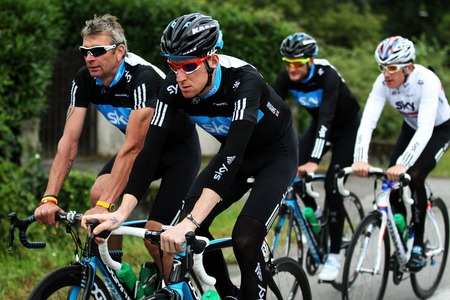 Team Sky rest day ride