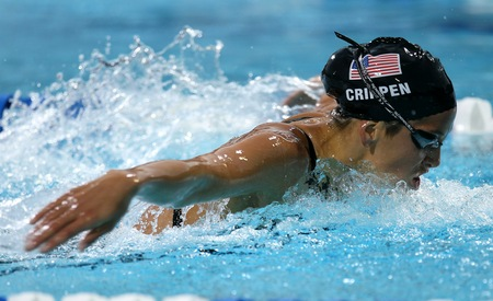 200 m butterfly during the