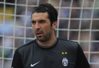 TURIN, ITALY - MAY 09:  Gianluigi Buffon of Juventus FC looks on during the Serie A match between Juventus FC and Parma FC at Stadio Olimpico di Torino on May 9, 2010 in Turin, Italy.  (Photo by Valerio Pennicino/Getty Images)