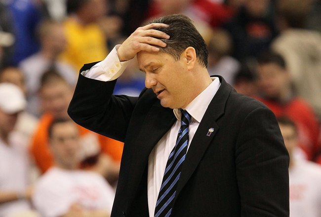 SYRACUSE, NY - MARCH 25:  Head coach John Calipari of the <a class='sbn-auto-link' href=