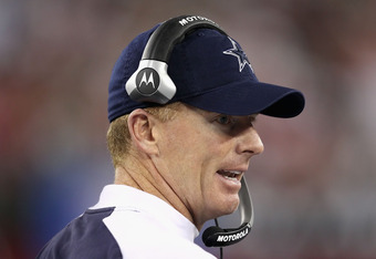 GLENDALE, AZ - DECEMBER 25:  Head coach Jason Garrett of the Dallas Cowboys watches from the sidelines during the NFL game against the Arizona Cardinals at the University of Phoenix Stadium on December 25, 2010 in Glendale, Arizona. The Cardinals defeated the Cowboys 27-26.  (Photo by Christian Petersen/Getty Images)