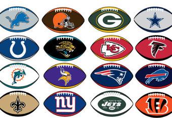 NFL Football Team Logos Clip Art