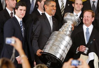 Sidney Crosby, President Obama and future (?) Kings owner Ronald Burkle?