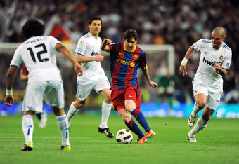 Lionel Messi was his elusive self during El Clasico's first half.