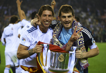 Serio Ramos (left) and Iker Casillas (right) finally have reason to smile after facing Barcelona.