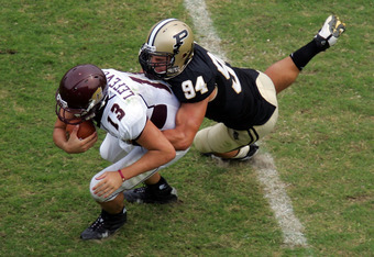 Ryan Kerrigan, who was taken by the Washington Redskins with the 16th overall pick in the 2011 NFL draft, is seen above making a tackle.