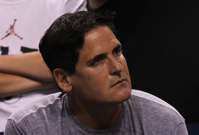 MIAMI, FL - MAY 31: Owner Mark Cuban of the Dallas Mavericks looks on while the Mavericks take on the Miami Heat in Game One of the 2011 NBA Finals at American Airlines Arena on May 31, 2011 in Miami, Florida. NOTE TO USER: User expressly acknowledges and agrees that, by downloading and/or using this Photograph, user is consenting to the terms and conditions of the Getty Images License Agreement. (Photo by Ronald Martinez/Getty Images)