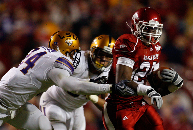 FINAL: LSU, 41; Arkansas, 17, in fourth quarter