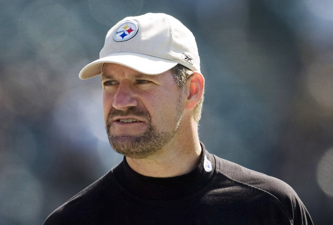 Pittsburgh Steelers head coach Bill Cowher during game against Oakland Raiders at McAfee Coliseum in Oakland, California on October 29, 2006. The Raiders won 20 to 13. (Photo by Michael Fabus/NFLPhotoLibrary)