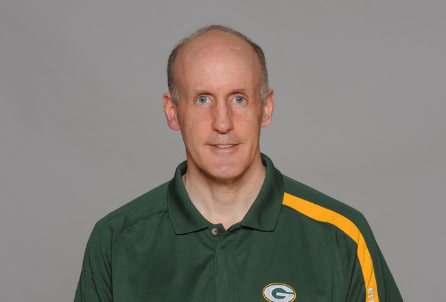 GREEN BAY, WI - CIRCA 2011: In this handout image provided by the NFL,  Joe Philbin of the Green Bay Packers poses for his NFL headshot circa 2011 in Green Bay, Wisconsin.  (Photo by NFL via Getty Images)