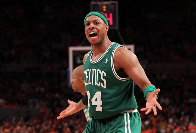 PAUL PIERCE, Ray Allen carry Celtics past Knicks 91-89
