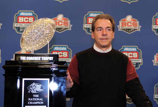 Alabama's BCS Trophy Destroyed
