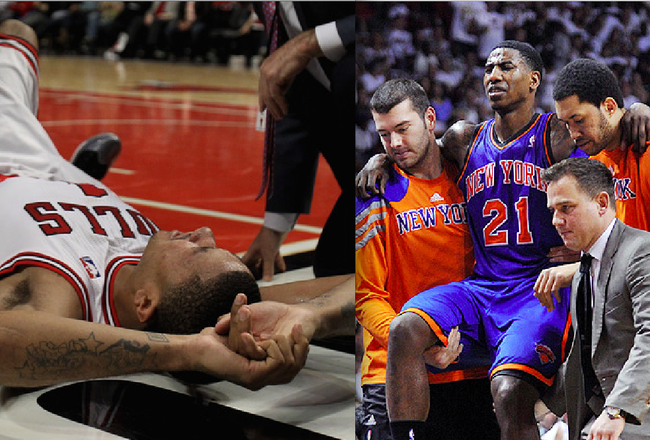 Derrick Rose, Iman Shumpert Out for Playoffs -- Conspiracy Theory?