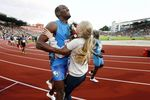 Usain Bolt Trucks Flower Girl After 100m Race
