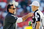 SAN FRANCISCO, CA - NOVEMBER 11:  Head coach Jeff Fisher of the St. Louis Rams talks with referee Clete Blakeman #34 during a game against the San Francisco 49ers in the second quarter on November 11, 2012 at Candlestick Park in San Francisco, California.  The teams tied 24-24 in overtime.  (Photo by Brian Bahr/Getty Images)