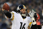 BALTIMORE, MD - DECEMBER 02: Quarterback Charlie Batch #16 of the Pittsburgh Steelers throws against the Baltimore Ravens in the first quarter at M&amp;T Bank Stadium on December 2, 2012 in Baltimore, Maryland. (Photo by Patrick Smith/Getty Images)