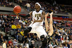 AUBURN HILLS, MI - MARCH 21:  Briante Weber #2 of the Virginia Commonwealth Rams drives for a shot attempt against the Akron Zips during the second round of the 2013 NCAA Men's Basketball Tournament at at The Palace of Auburn Hills on March 21, 2013 in Auburn Hills, Michigan.  (Photo by Gregory Shamus/Getty Images)