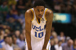 LAS VEGAS, NV - MARCH 16:  Larry Drew II #10 of the UCLA Bruins looks on during the Pac-12 Championship game against the Oregon Ducks at the MGM Grand Garden Arena on March 16, 2013 in Las Vegas, Nevada.  (Photo by Jeff Gross/Getty Images)