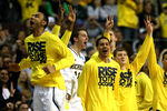 AUBURN HILLS, MI - MARCH 23:  Players for the Michigan Wolverines react on the bench in the second half against the Virginia Commonwealth Rams during the third round of the 2013 NCAA Men's Basketball Tournament at The Palace of Auburn Hills on March 23, 2013 in Auburn Hills, Michigan.  (Photo by Jonathan Daniel/Getty Images)