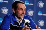Mar 21, 2013; Philadelphia, PA, USA; Duke Blue Devils head coach Mike Krzyzewski during press conference the day before the second round of the 2013 NCAA tournament at the Wells Fargo Center. Mandatory Credit: Eileen Blass-USA TODAY Sports