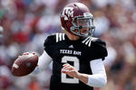COLLEGE STATION, TX - APRIL 13:  Texas A&M Aggies quarterback Johnny Manziel #2 looks to pass during the Maroon & White spring football game at Kyle Field on April 13, 2013 in College Station, Texas.  (Photo by Scott Halleran/Getty Images)