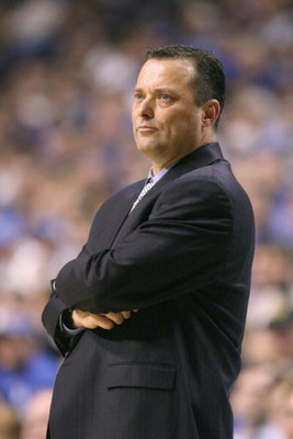 LEXINGTON, KY - JANUARY 21:  Head coach Billy Gillispie of the Kentucky Wildcats watches the action during the SEC game against the Auburn Tigers at Rupp Arena on January 21, 2009 in Lexington, Kentucky.  (Photo by Andy Lyons/Getty Images)