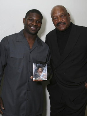 LOS ANGELES - JUNE 3: LaDanian Tomlinson and Jim Brown attend the 22nd Annual Cedars-Sinai Sports Spectacular on June 3, 2007 in Los Angeles, California. (Photo by Alberto E. Rodriguez/Getty Images)
