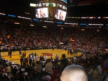Inside AmericanAirlines Arena