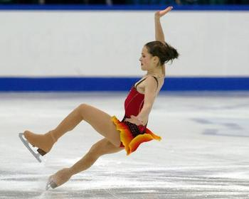 Ice skating falling over