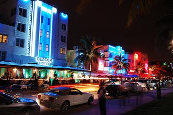 Miami Nightlife Street scene