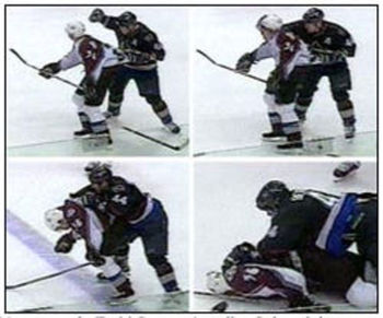 Bertuzzi's head shot on Moore