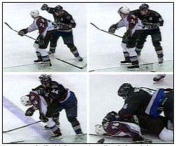 Bertuzzi's head shot on Moore