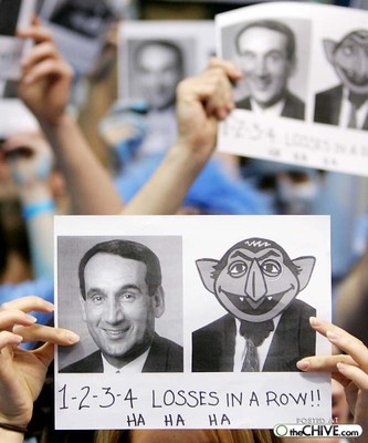 Duke Normally Gets The Best Unc Sign And Taunting Category